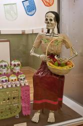 Women Skeleton With Fruit Basket