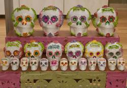 Day of the Dead-Rows of Skulls