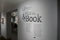 Title wall from the exhibition