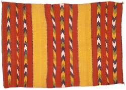 Tapestry-Weave Double Saddle Blanket
