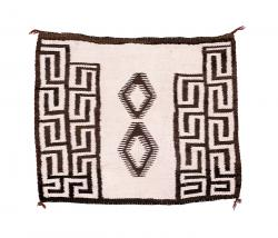 Tapestry-Weave Single Saddle Blanket