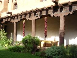 NEW MEXICO MUSEUM OF ART COURTYARD WITH RISTRA
