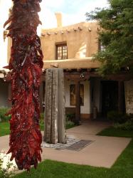 NEW MEXICO MUSEUM OF ART COURTYARD WITH A RISTRA
