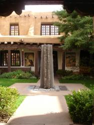 NEW MEXICO MUSEUM OF ART COURTYARD WITH MORALES FOUNTAIN