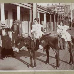 Lower San Francisco Street, Santa Fe, New Mexico, ca. 1900