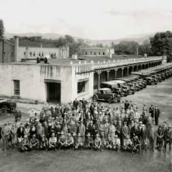 Indian Detours Personnel and Equipment, Palace of the Governors, ca. 1927