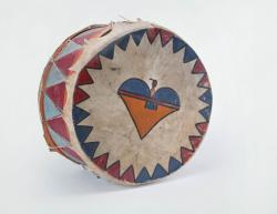 Pueblo Drum with Cloud Designs