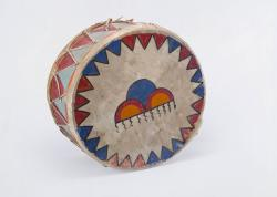 Pueblo Drum with Cloud Designs (Reverse)
