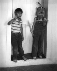 Two Boys in a Doorway