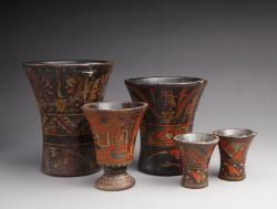 Collection of wooden of Keros, Peru, 17th c.- 18th c.