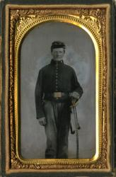 Civil War-era cased image