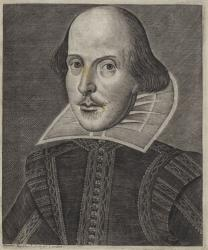 Martin Droeshout. Shakespeare. Engraving, 1623.