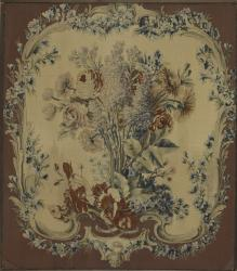 Maurice Jacques, chair back upholstery panel, Manufacture Nationale des Gobelins