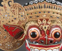 Detail of Barong mask