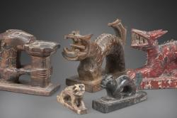 Shaman's ritual implements with Pan Hung figures, Yao culture (early to mid-20th century), Vietnam