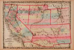 Johnson's California, Territories of New Mexico and Utah by Johnson and Ward, 1862