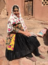 Woman in traditional dress, village of Abiyaneh.