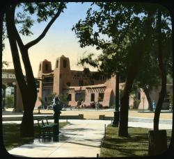 Hand-colored lantern slide, ca. 1920