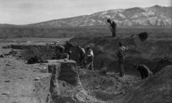 Excavations of Kuaua Ruins at Coronado Historic Site.
