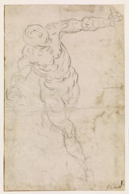 Study of Nude Man Flying