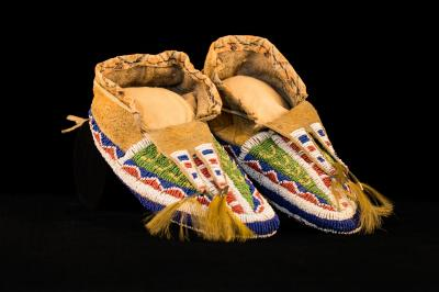 Beaded-sole moccasins