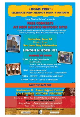 Celebrate San Juan Day with Free Concerts at Lincoln Historic Site