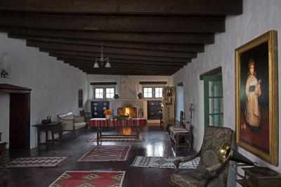 Los Luceros Historic Property Great Room, 2017. Photo by: Gene Peach; Courtesy: NM Department of Cultural Affairs