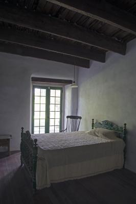 Los Luceros Historic Property Single Bedroom (2017); Photo by: Gene Peach; Courtesy: NM Department of Cultural Affairs