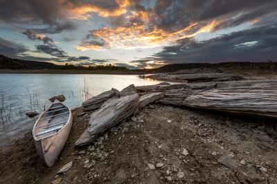 Second Place: Sun Sets Over the Waters of Navajo Lake, East Arm shore, Navajo Lake State Park, Michael Shaw