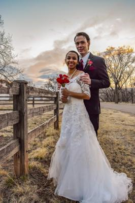 Bride and Groom at Lincoln County
