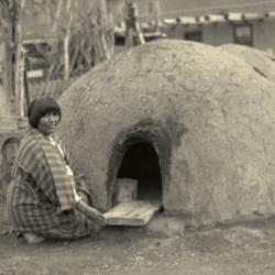 Pueblo Woman at Horno