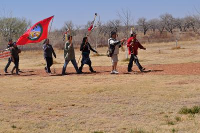 Participants in The Longest Walk 3 (2011) arriving at the Bosque Redondo Memorial Courtesy: NM Historic Sites