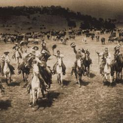 Cowboys Going to Dinner, ca. 1897