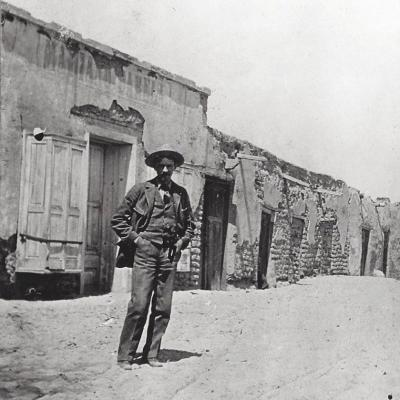 J. Paul Taylor as a young man on the streets of Mesilla (year unknown)