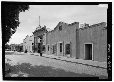 Old Mesilla, Exterior of Taylor Properties, Black & White (year & photographer unknown)