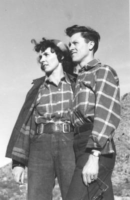 Young J. Paul Taylor & Wife Mary, Black & White (year & photographer unknown)