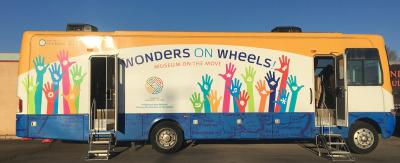 Wonder on Wheels Mobile Museum's 2018 exhibit from Museum of Indian Arts and Culture Exhibit