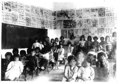 Bosque Redondo Memorial at Fort Sumner Classroom with Native Children