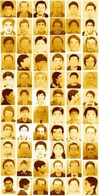 Disappeared 1-2  Photos collage of some of the people who were disappeared from Ayacucho, Peru. Photographer: unknown, Courtesy of the National Association of the Families of the Disappeared of Peru
