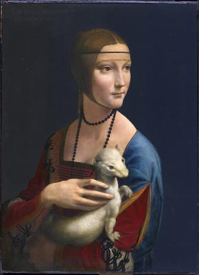 Lady with an Ermine, painting by Leonardo da Vinci. Courtesy Grande Exhibitions