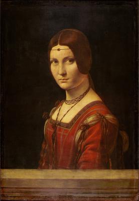 Lumin�re du Jour DGS @ Luminere Technology, La Belle Ferronniere, painting by Leonardo da Vinci. Courtesy Grande Exhibitions.