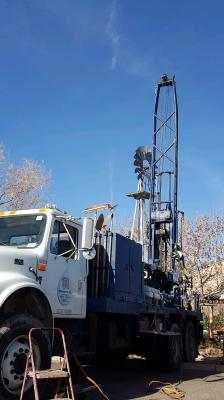 New well for groundwater monitoring drilled on April 10, 2018. Photo by Sara Chudnoff.
