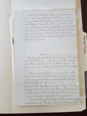 Tappan copy of Treaty of Bosque Redondo 1