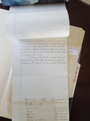 Tappan copy of Treaty of Bosque Redondo 2