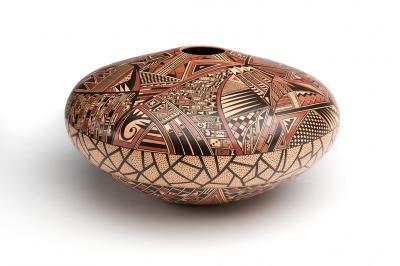 Seed Jar Les Namingha (Hopi/Zuni, b. 1968) Circa 2005 Clay 59720/12