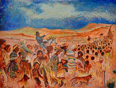 My Father's Torture by Shonto Begay with permission from the artist