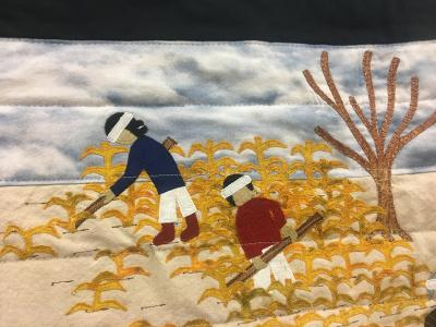 The Long Walk story told pictorially in quilts by Navajo artist Suzanne Hudson. Photos; NM Department of Cultural Affairs.