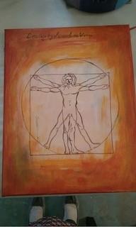30-NMMNHS- Vitruvian Man painting, Courtesy: KellyJo Designs by Wine