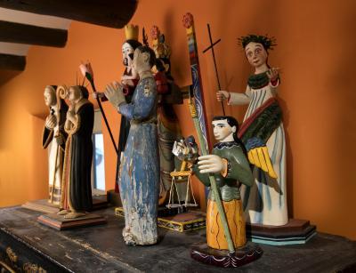 2MOIFA_Espinar_05: New Mexico and Mexican santos, including James C�rdova, Frank L. Garcia, Anita Romero Jones and Felix L�pez.