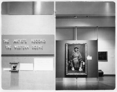 The Artists Record: The Western Scene, 1966. New Mexico Museum of Fine Arts, An exhibition of paintings from the museum�s permanent collection. Palace of the Governors Photo Archives, NMHM, DCA, 138890.